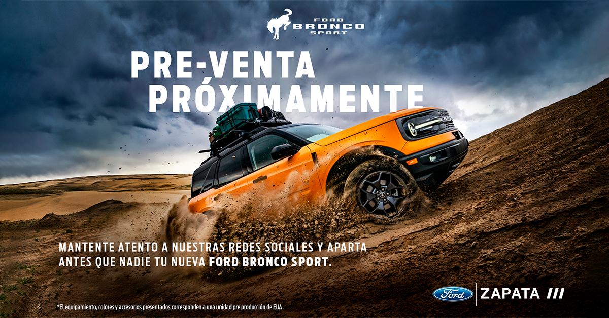 Ford Bronco preventa exclusiva
